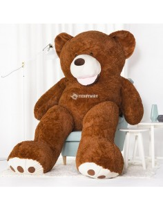 Dark Brown Giant Teddy Bear 260 CM – 102 Inch – BoBo Giant Teddy Bears - Big Teddy Bears - Huge Stuffed Bears
