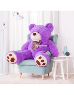Purple Giant Teddy Bear 160 CM – 63 Inch – BoBo Giant Teddy Bears - Big Teddy Bears - Huge Stuffed Bears
