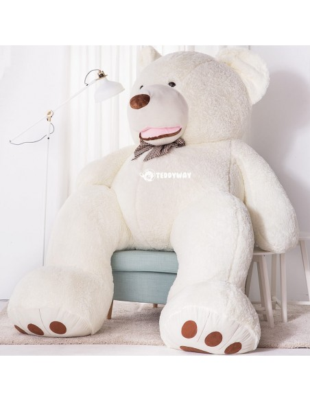 White Giant Teddy Bear 260 CM – 102 Inch – BoBo Giant Teddy Bears - Big Teddy Bears - Huge Stuffed Bears