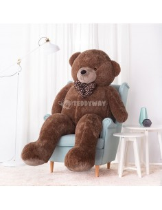 Dark Brown Giant Teddy Bear 200 CM – 78 Inch – NoMo Giant Teddy Bears - Big Teddy Bears - Huge Stuffed Bears