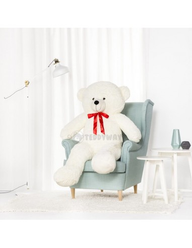 White Giant Teddy Bear 140 CM – 55 Inch – NoMo Giant Teddy Bears - Big Teddy Bears - Huge Stuffed Bears