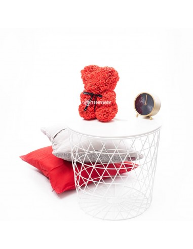Red Rose Teddy Bear 25 CM – 10 Inch – Oni Rose Bears - Rose Teddy Bears - Flower Teddy Bears