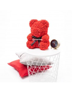 Red Rose Teddy Bear 40 CM – 16 Inch – Oni Rose Bears - Rose Teddy Bears - Flower Teddy Bears
